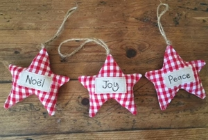 Picture of Star Christmas Decoration - Gingham