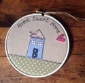 Picture of Home Sweet Home Hoop - White