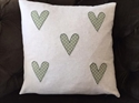 Picture of Dotty Hearts Applique Cushion Cover
