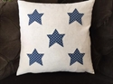 Picture of Dotty Stars Applique Cushion Cover