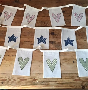 Picture of Natural Linen Applique Bunting