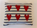 Picture of Applique Hearts Pin Cushion - Red Hearts