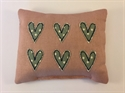Picture of Applique Hearts Pin Cushion - Turquoise Hearts