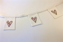 Picture of Linen Mini Bunting - White/Pink