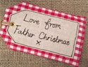 "Picture of ""Love From Father Christmas"" Gift Tag"